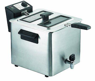 Friggitrice Rgv 8 lt professionale acciaio Inox 3000 w rubinetto FRY 8N - Rotex