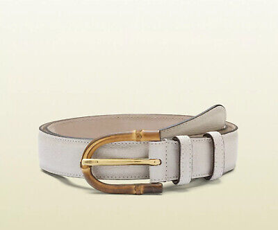 New With Tags Gucci Mystic White Bamboo Buckle Unisex Belt Size 100/40 $390.00