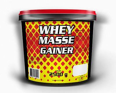 6,7€/kg Whey Masse Gainer 2500g Schoko Amino Eiweiss Protein Shake Muskelaufbau online kaufen
