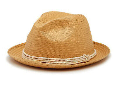 Tommy Bahama Mens Paper Toyo Fedora Hat New Without Tags (Natural)