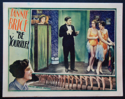 BE YOURSELF FANNY BRICE IN DRESSING ROOM 1930 LOBBY CARD