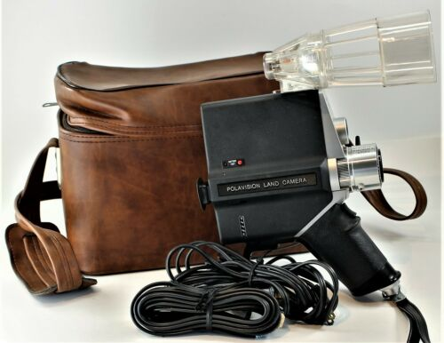 Polaroid Polavision Land Camera Instant Camera And Polaroid Leather Look Case