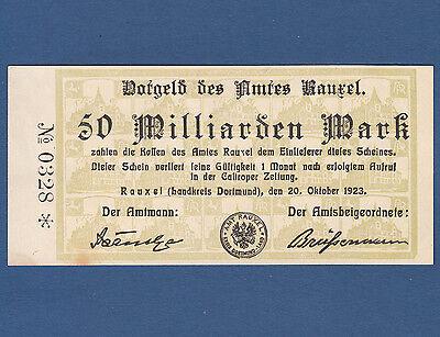 RAUXEL 50 Milliarden Mark 1923  II / XF