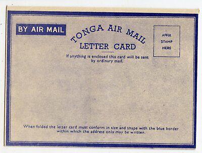 TONGA AIR MAIL LETTER CARD FORMULAR, VERY CLEAN                          (B805)