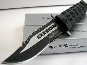 Tac-Force-Bowie-Sawback-Rescue-Flipper-Assisted-Opening-BLACK-Handle-Knife