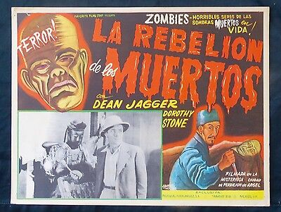 REVOLT OF THE  ZOMBIES Dean Jagger Bela Lugosi LOBBY CARD 36 Aguirre Tinoco Art
