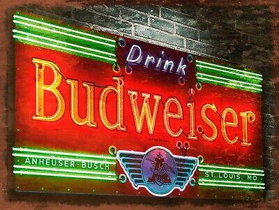 Budweiser, Retro replica vintage style metal sign/plaque Gift bar/pub