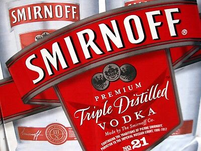 Smirnoff Vodka, Retro metal Sign/Plaque Wall vintage / Bar Gift