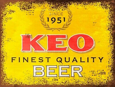 KEO Beer, Retro replica vintage style metal sign/plaque Gift