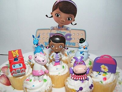 Disney Doc McStuffins  Cake Toppers Set 8 Fun Figures with Lambie, Chilly Etc](Doc Mcstuffins Cake Toppers)