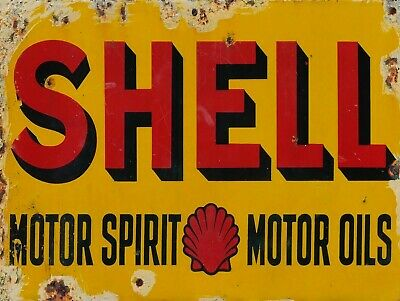 Shell Motor Spirit Motor Oil, Retro replica vintage style metal sign/plaque Gift
