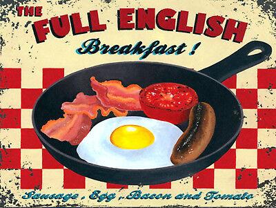 Full English Breakfast, Retro metal Sign vintage, Kitchen, Cafe