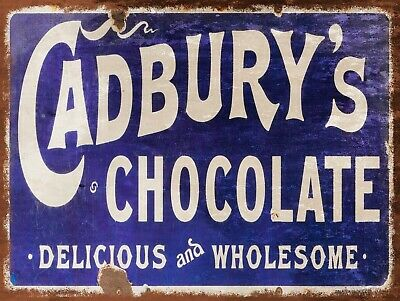 Cadbury's Chocolates, Retro replica vintage style metal sign/plaque Gift