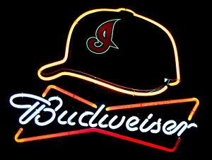 Budweiser Neon, Retro metal Aluminium Sign vintage / man cave / Bar/ Pub
