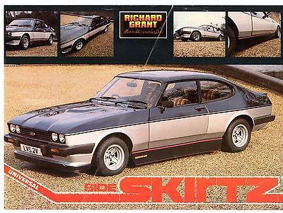 Richard Grant Accessory Side Skirtz Early 1980s UK Market Brochure Ford Capri