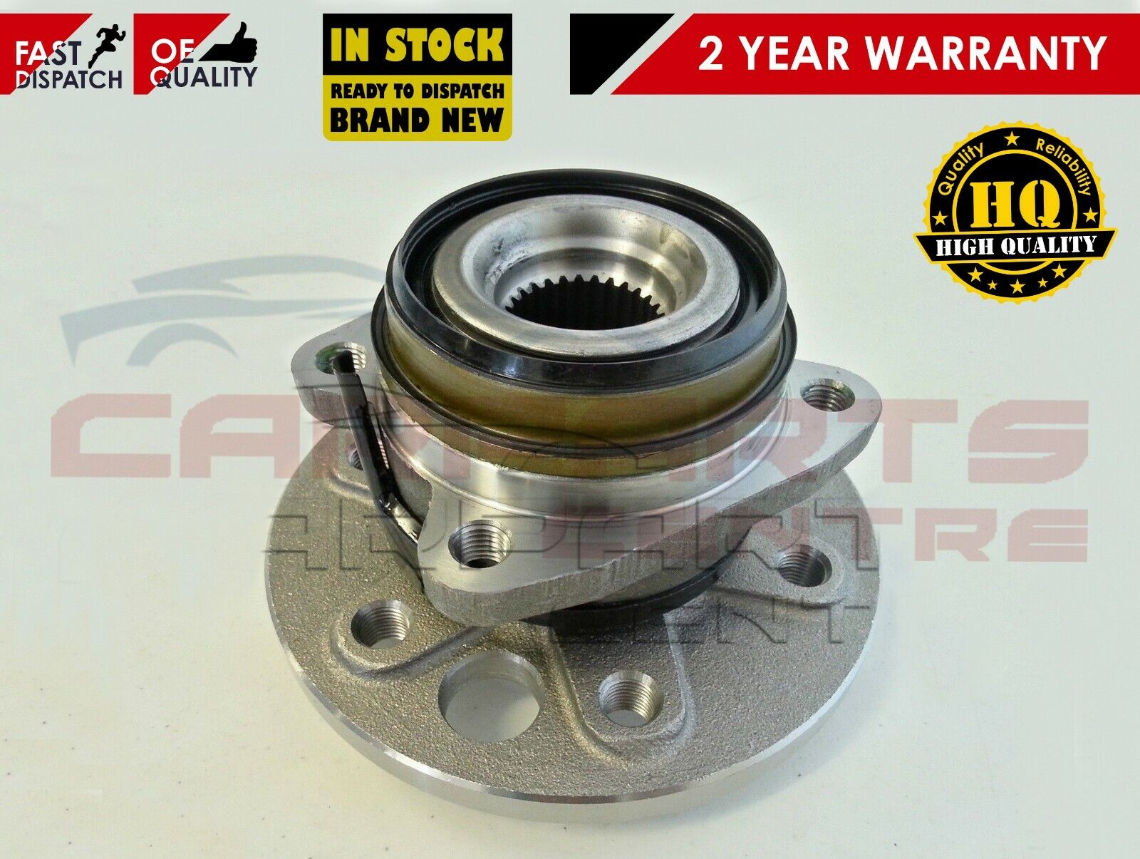 For JEEP CHEROKEE LIBERTY KJ 01/> FRONT RIGHT OS WHEEL HUB BEARING COMPLETE