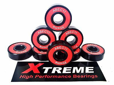 8 Pack 608RS XTREME ABEC 11 REDS HIGH PERFORMANCE BEARINGS SKATEBOARD LONGBOARD*