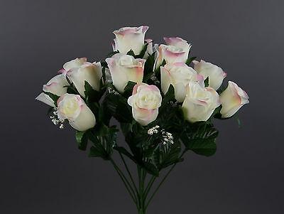 Rosenstrauß Paris 36cm Weiß-creme Dp Kunstblumen Künstlicher Strauße Rosen