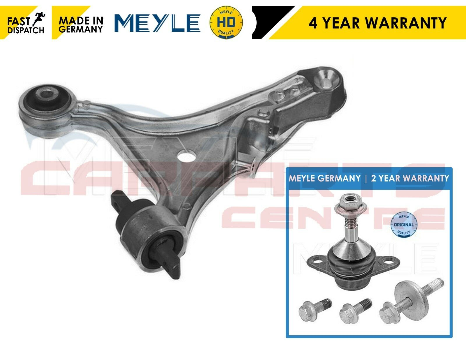 FOR VOLVO S60 I FRONT RIGHT LEFT HEAVY DUTY MEYLE LOWER WISHBONE ARM BALL JOINTS