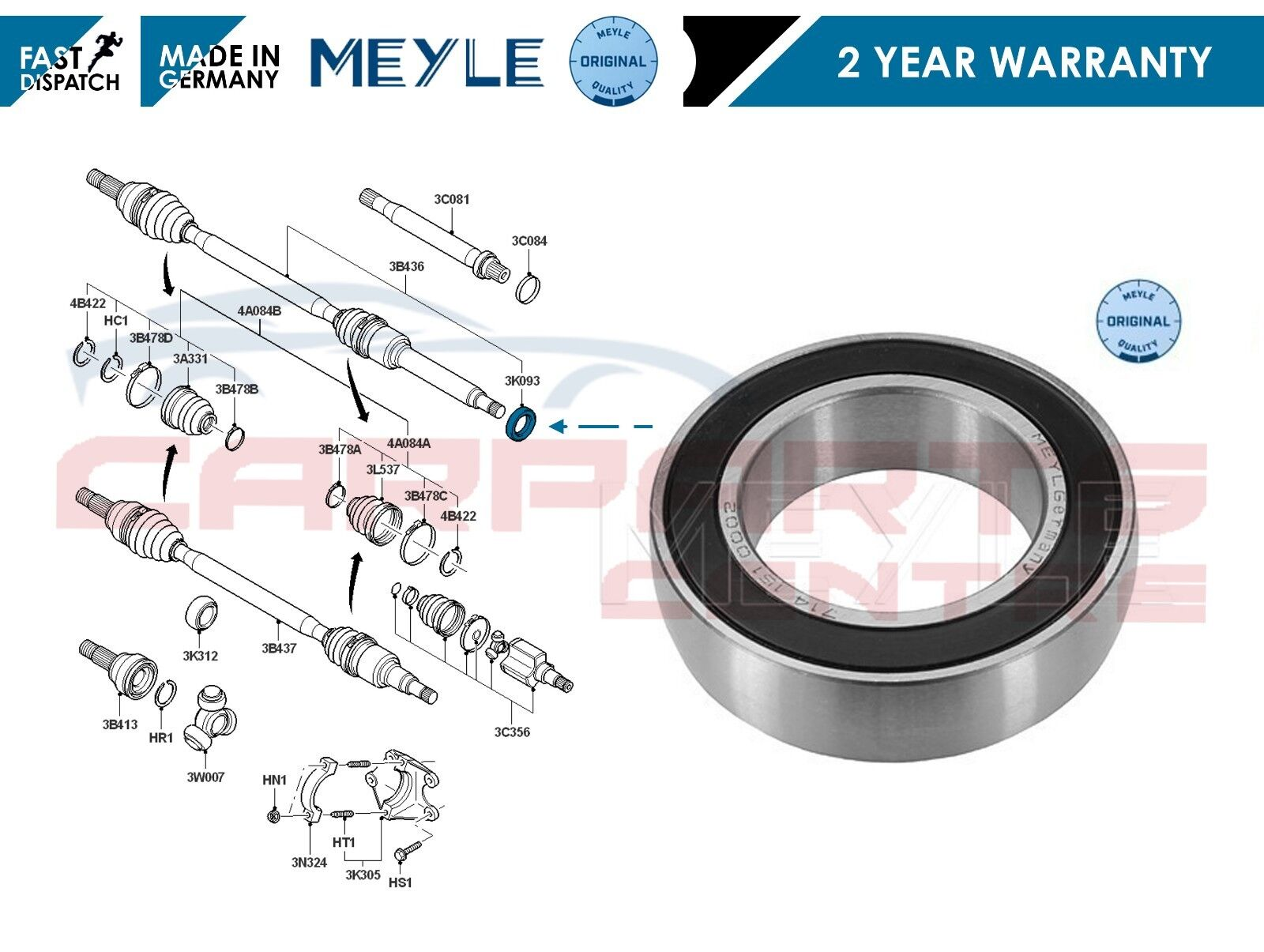6 NEW OE QUALITY FOR FORD FIESTA MK 5 FUSHION DRIVE SHAFT FRONT NEARSIDE