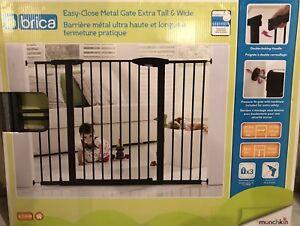 brica metal adjustable baby gate (pressure fit)