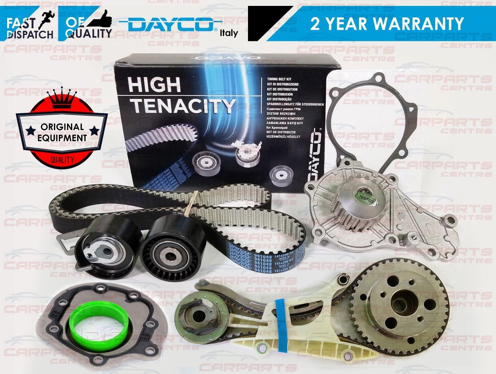 Dayco Cinghia di DISTRIBUZIONE KTB470 Si Adatta Ford C-MAX 1.8 TDCI 2007 - OE Quality parte
