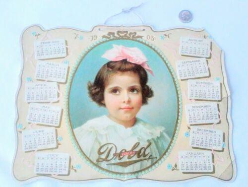 Delicatessen Company Vintage 1903 Calendar