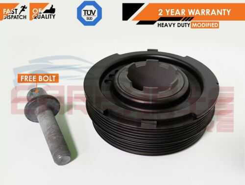 FOR ROVER 75 MGZT FREELANDER 2.0 CDTi TD4 CRANK SHAFT VIBRATION PULLEY WITH BOLT