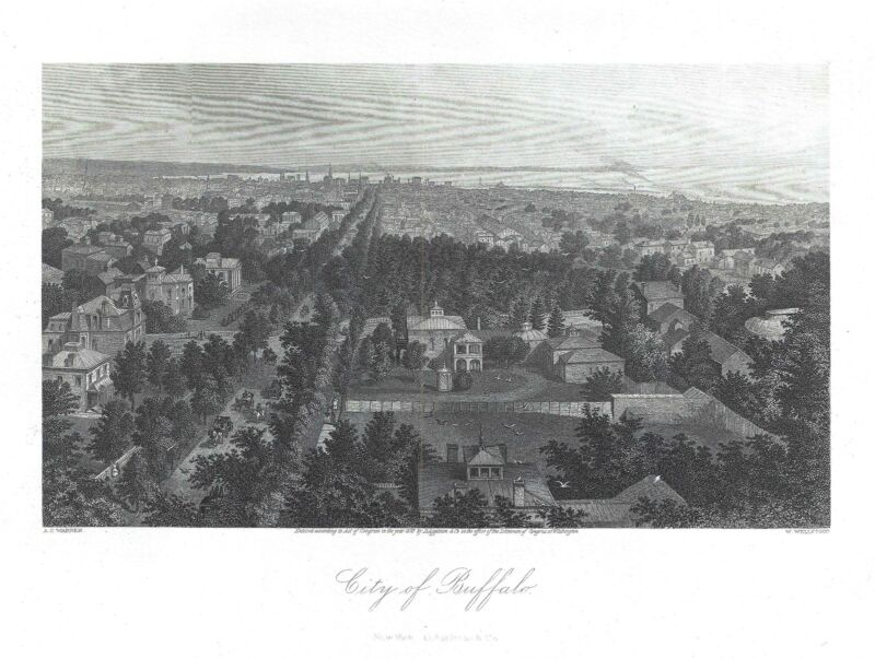 1873 Warren View of Buffalo, New York