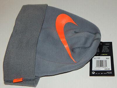- Nike Unisex Dri Fit Swoosh Cuffed Beanie / Stocking Hat Cap  NEW Grey