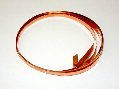 - 26 Gauge Copper Flat Bezel Wire 3/16 Inch Wide 10 Foot Package