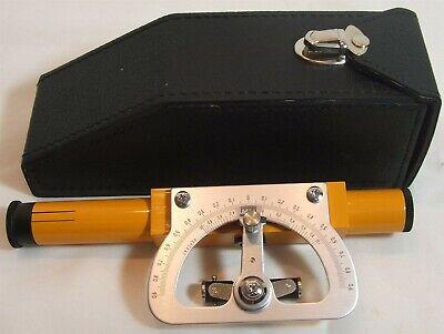 Inclinometer Surveyor Hand Held Level Sight W Case Optics Japan Unbranded Ln