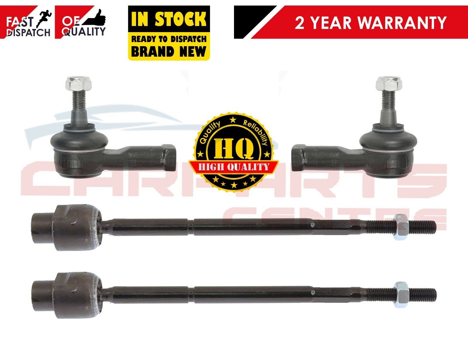 FOR RENAULT GRAND SCENIC 2004/> 2x INNER /& 2x OUTER STEERING RACK TIE ROD END