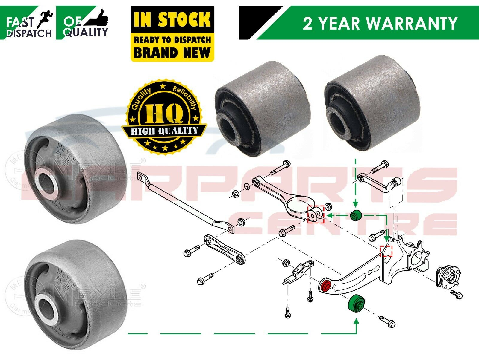 Ford Mondeo MK3 Rear Left and Right Sub Frame Bushes SET OF 4
