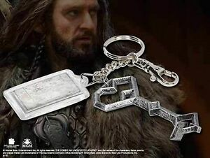 Thorin-Oakenshield-Keychain-Of-Key-And-Map-Brand-New-Tolkien-The-Hobbit-LOTR