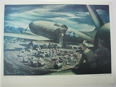 Supply Line In Kunming China Loren Fisher US Air Force Art Collection Art Print
