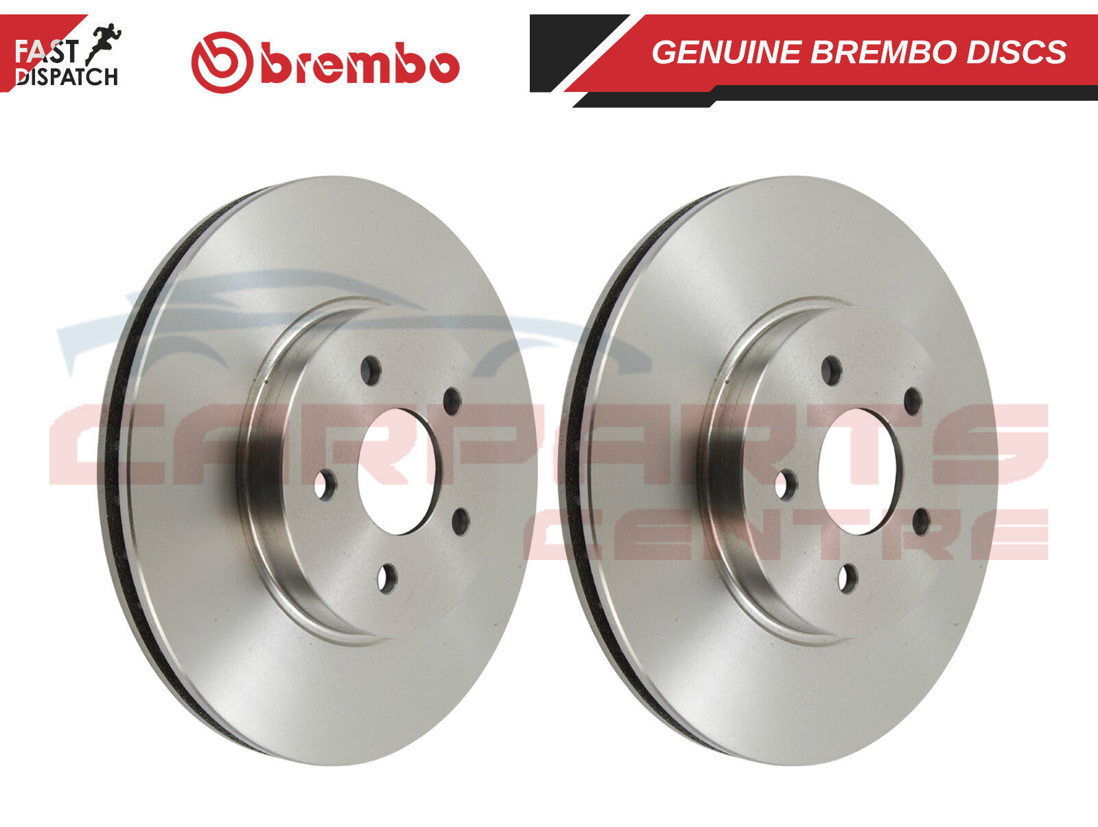 Renault Clio MK2 1.5 DCi diesel 2 FRONT vented brake discs and pads SET 01-05