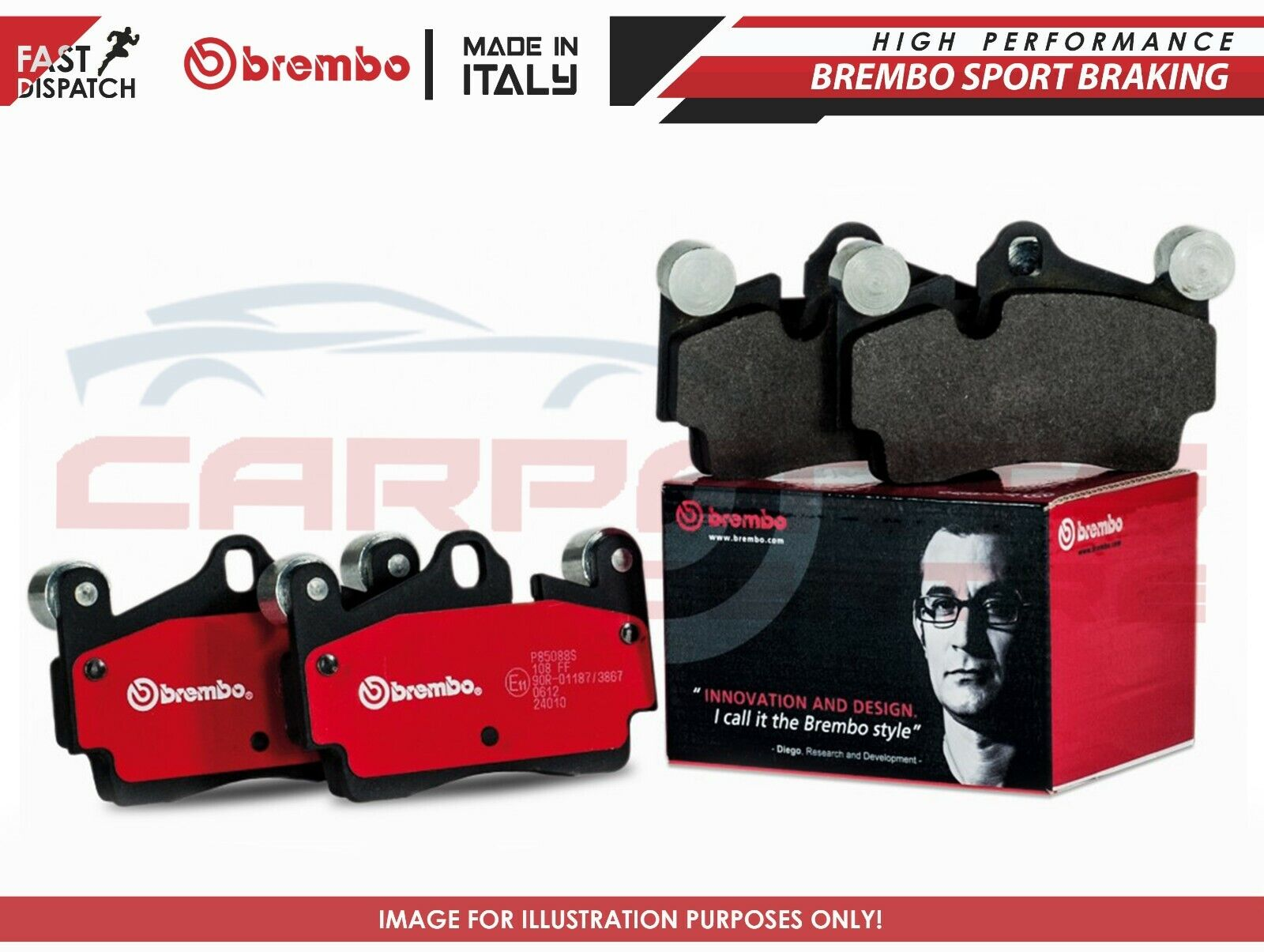 GENUINE PAGID FRONT AND REAR AXLE BRAKE KIT BRAKE PAD SET BRAKE PADS BRAKES
