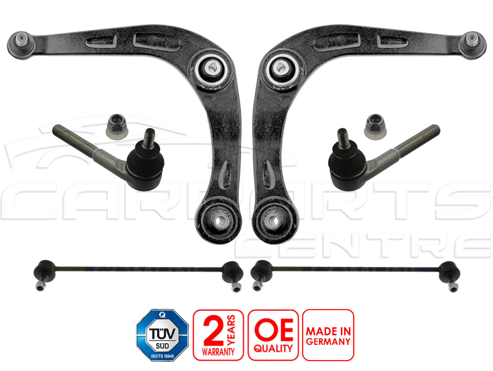 Alfa 156 2.0i FRONT LOWER TRACK CONTROL WISHBONE SUSPENSION ARMS X 2 NEW