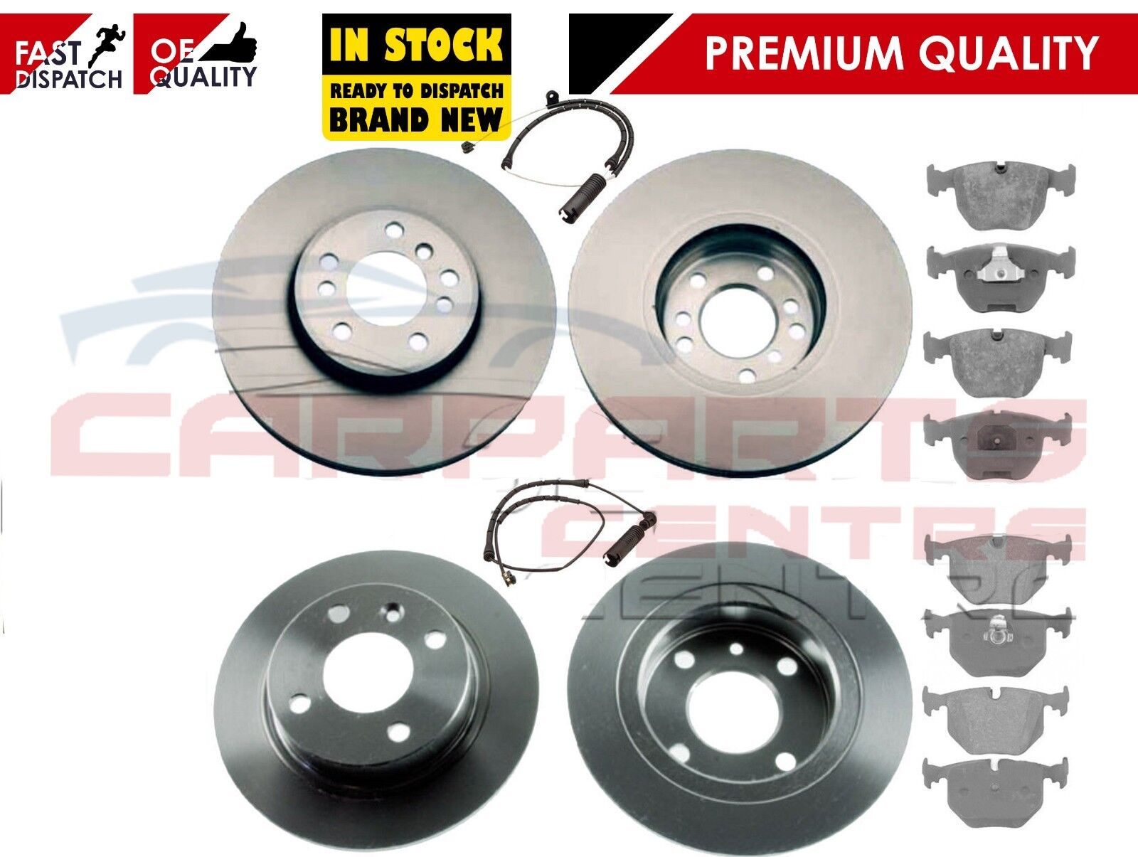 FOR BMW X5 E53 3.0 D 3.0i 00-06 FRONT /& REAR BRAKE DISC DISCS PADS SENSORS