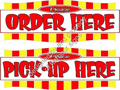 Order Here Pickup Here 14 Decal Lettering Food Truck Concession Sticker