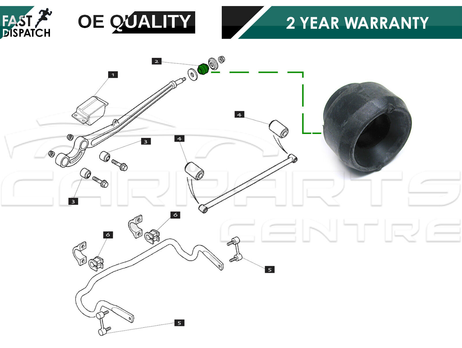 For Land Rover Range Ii 2 P38 Front Radius Arm To Chassis Bush P 38 Engine Diagrams Oe Quality