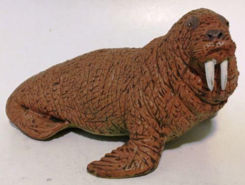 """5"""" WALRUS Vintage AAA Plastic Figure Retired Solid Figurine Animal Toy"""