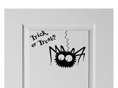 Decorate Living Room For Halloween (Trick or Treat Spider Halloween Vinyl Decal Sticker Decor for)