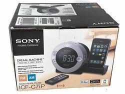 Sony Dream Machine Alarm Clock AM FM Radio ICF-C7iP iPod Player Complete Guarant