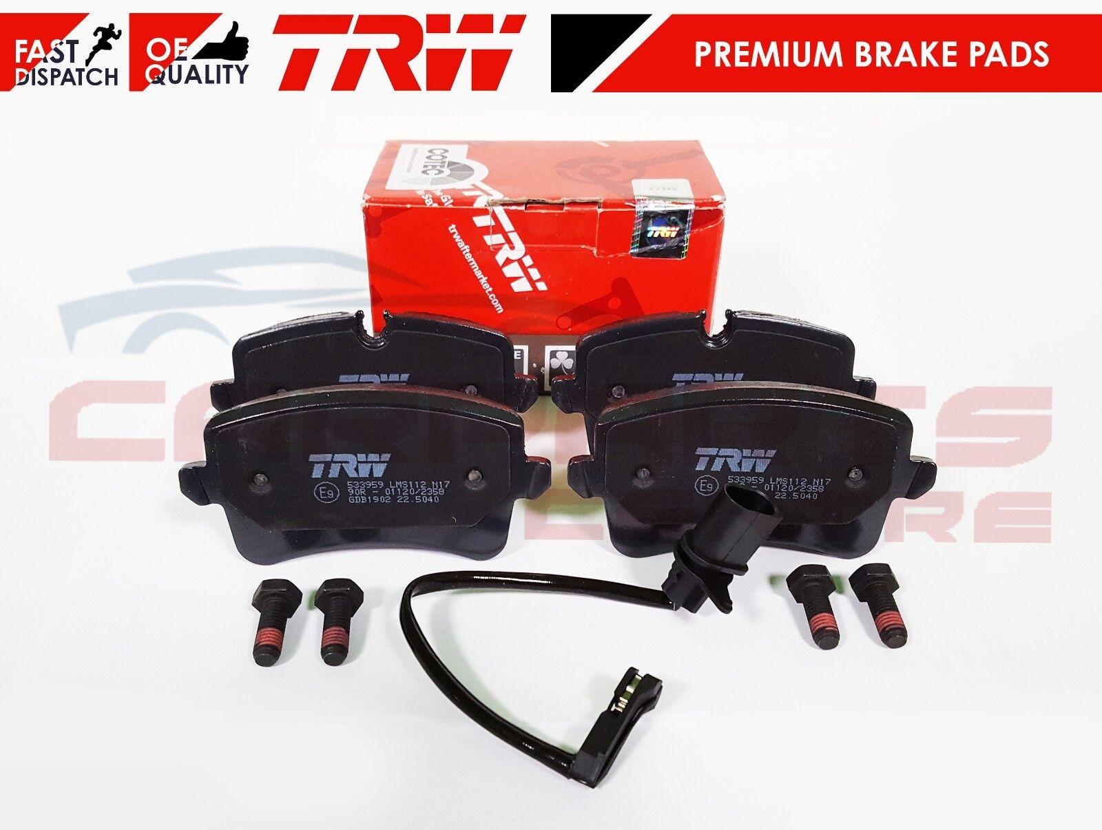 Audi A4 B8 2.0 TDI Genuine TRW Rear Brake Pads Set