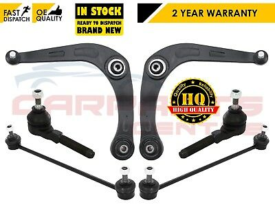FOR PEUGEOT 206 FRONT LOWER SUSPENSION WISHBONE ARMS LINKS TRACK ROD ENDS 1998-