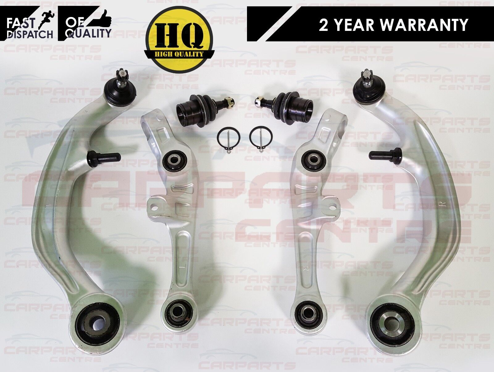 FOR NISSAN 350Z FRONT LOWER REAR FRONT SUSPENSION WISHBONE CONTROL ARMS LH RH