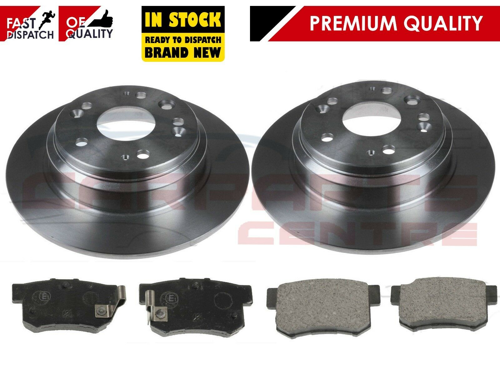for HONDA ACCORD 2.2 CDTi TOURER ESTATE 2003-2008 FRONT 2 BRAKE DISCS AND PADS