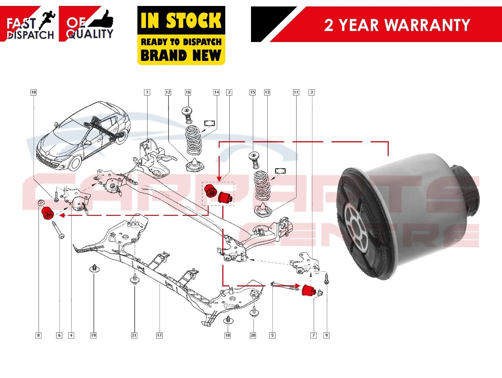 Renault Megane Scenic mk2 2 II REAR AXLE SUBFRAME BUSH HEAVY DUTY REPAIR TOOL